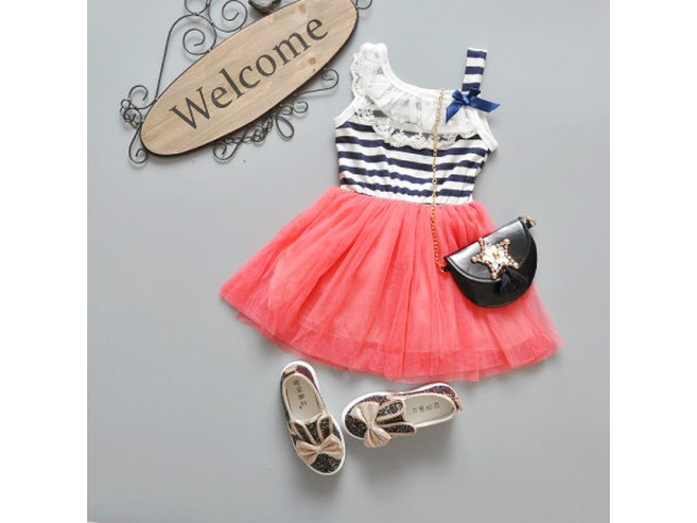 Girls Lace Stripe Dress | free-classifieds-usa.com