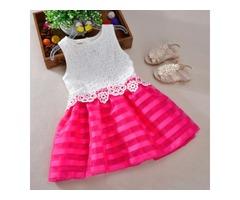 Hook Flower Girls Summer Dress