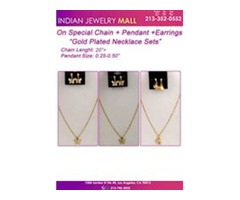 "On SpecialsChain + Pendant +Earrings ""Gold Plated Necklace Sets"""