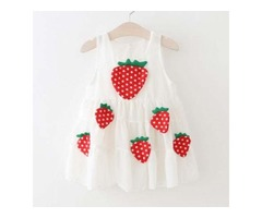 Adorable Strawberry Sleeveless Dress