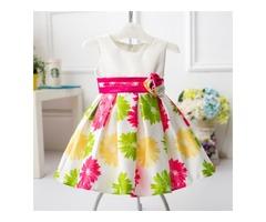 Floral Printed Baby Toddler Girls Summer Dress