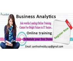 Business Analytics online training For Free Demo Register Now.