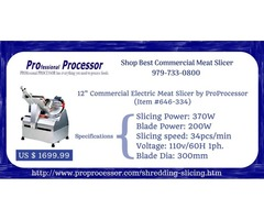 Commercial meat slicer on sale - ProProcessor