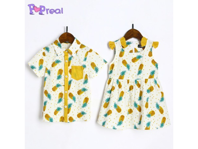 c4613dc46 Brother Sister Pineapple Prints Matching Outfits - Clothing ...