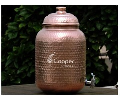 Shop for Pure Copper Nine Liter Water Dispenser with Stainless Steel Tap