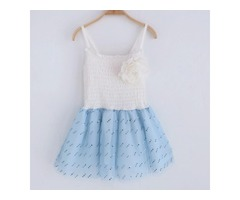 Flower Decorated Tulle  Cami Dress