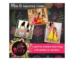 Mom & daughter combo | customized stitching | mom and daughter matching dresses