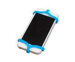 Silicone Bandage Fixed Phone Holder Elastic Strap for Car Bike Bicycle Black/White/Blue