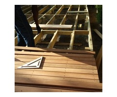 Get a refurnished Brown Stone wooden Deck for your house