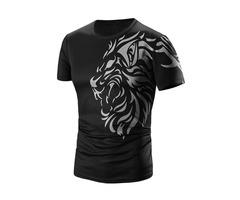 Unique Floral Printed Mens Short Sleeve T-Shirt