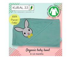 Kural 33, 100% Organic baby hood , hooded towel , organic hood  ,0-12 Months hood