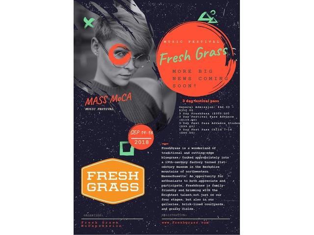 Fresh Grass Music Festival-SEPTEMBER 14-16, 2018 MASS MoCA | free-classifieds-usa.com