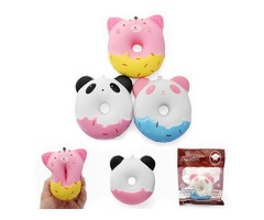 SquishyShop Cute Animals Donut 10cm Squishy Soft Slow Rising With Packaging Collection Gift Decor