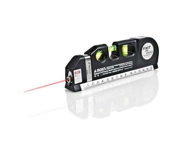 Loskii DX-013 Multipurpose Laser Level Horizontal Vertical Measure Tape Aligner Ruler 3 Bubbles | free-classifieds-usa.com