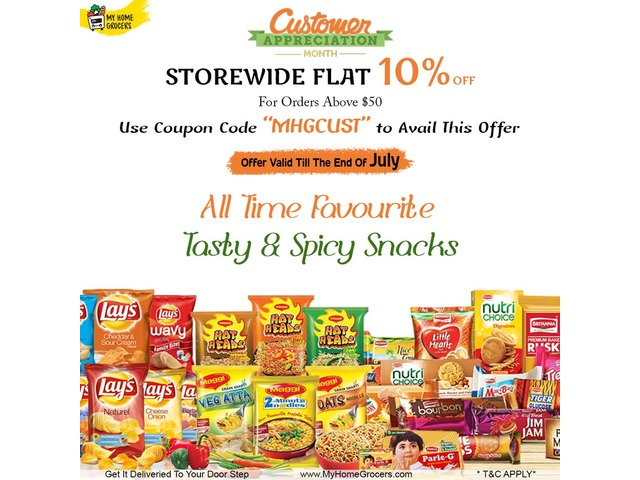 Buy Tasty & Spicy Snacks Online Allen,Texas - MyHomeGrocers | free-classifieds-usa.com