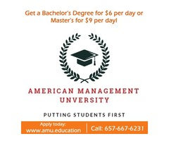 Get a Bachelor's Degree for $6 per day or Master's for $9 per day