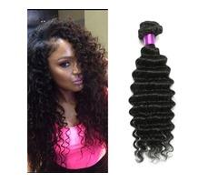 Brazilian Deep Wave Virgin Hair Brazilian Hair Bundles 4pcs lot100% Curly