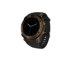 Smart Watch Round Screen MTK2502 Bluetooth Retro Watch with Bass Waterproof Speaker Support Micro SD