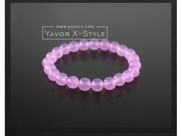 Light purple quartz gemstone bracelet – 8mm natural quartz beads – elastic stretch cord or steel wir | free-classifieds-usa.com
