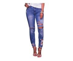 Skinny Plain Mid-Waist Womens Jeans