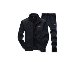 Tidebuy Plain Two Piece Mens Tracksuit Outfit