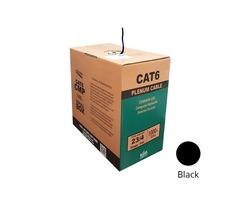 Bulk Cat6 Plenum 23AWG  550MHz UTP Solid Bulk 1000ft Cables - BNCables.com
