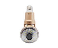 EazzyDV IB-175Y LED 360° Warm Light Bulb IP WIFI Micro Surveillance 720P IR-Cut Camera For Home Secu