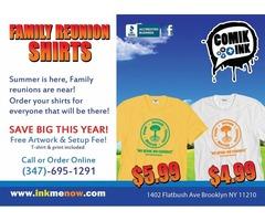 Comik Ink Family Reunion T-shirt Deal!!!