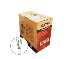 1000FT Cat5e Plenum 24AWG  350MHz UTP Solid, Plenum (CMP), Bulk Ethernet Cable