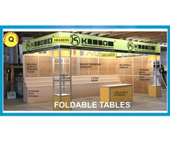 Large display showcase for trade show and new product release