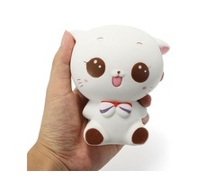 Squishy White Cat Kitten 11cm Soft Slow Rising Cute Animals Cartoon Collection Gift Deocor Toy