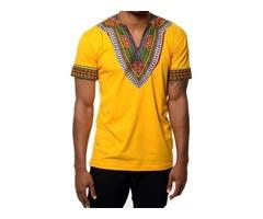 Tidebuy African Dashiki Print Short Sleeve Mens T-Shirt