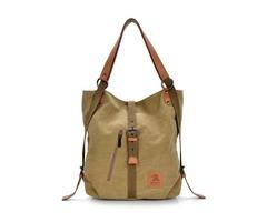 Women Men Canvas Handbags Multifunction Backpack