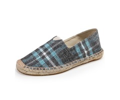 Canvas Plaid Slip-On Casual Shoes
