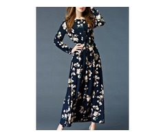 Tidebuy Floral Long Sleeves Long Maxi Dress
