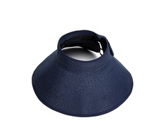 Foldable Bowknot Empty Top Wide Brim Beach Sun Straw Hat