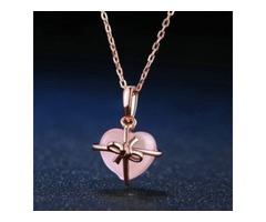 40% Off - Natural Stone Rose Quartz Chain Necklace