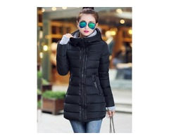 Stylish Splendid Zipper Decoration Collar Overcoat