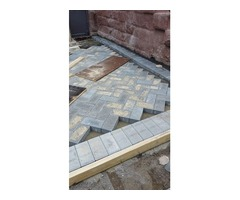 Front Yard Brownstone Brick Patio Service In Brooklyn At The Best Rate