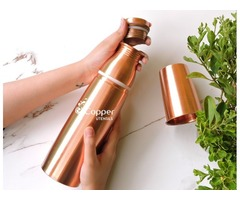 Shop for our New Copper Seamless Matte Finish Bottle with Tumbler Cap | free-classifieds-usa.com