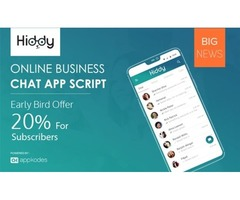 20% Offer Build Own Online Messaging Hangout Chat App For Business - Hiddy Appkodes