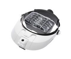2 LED Headbrand Magnifier Magnifying 5 Lens: 1.0X 1.5X 2.0X 2.5X 3.5X