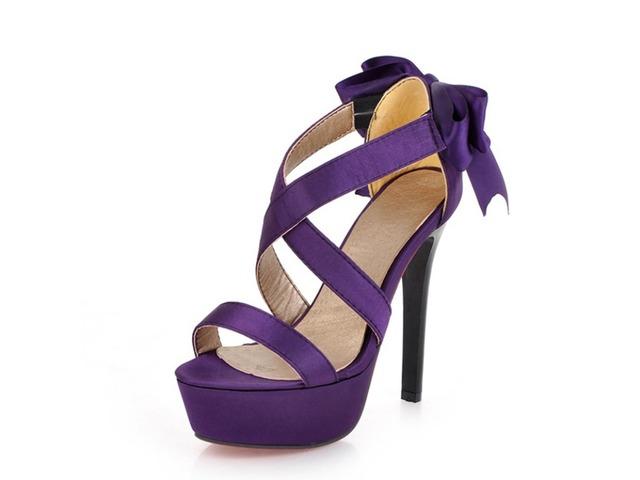 Solid Color Back Bowknots Platform Sandals | free-classifieds-usa.com