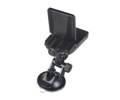 High Definition Car DVR Camera 6 IR LED 90 Degree Rotated Screen