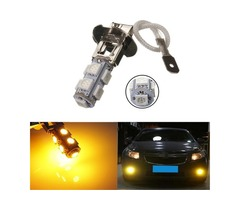H3 9SMD 5050 Car LED Fog Light Lamp Bulbs Yellow 12V 2W 64LM