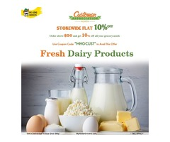 Fresh Dairy Products Online Wylie,Texas - MyHomeGrocers