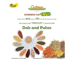 Buy Indian Dals and Pulses Online Addison,Texas - MyHomeGrocers