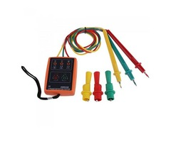 SM852B 60V-600V AC 3 Phase Rotation Tester Indicator Detector Meter Sequence Presence With LED Buzze