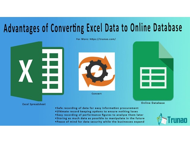 Advantages of Converting Excel Data to Online Database | Trunao LLC