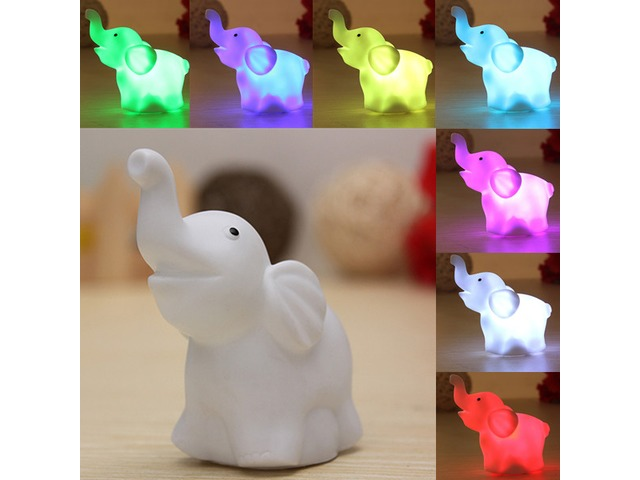 7 Colors Changing Elephant LED Night Light Battery Party Decor | free-classifieds-usa.com